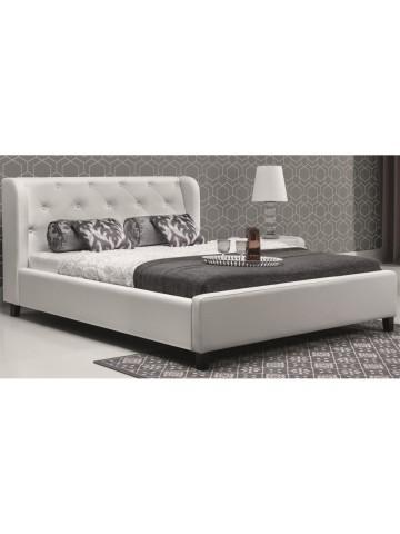 Łóżko tapicerowane PARYS z materacem