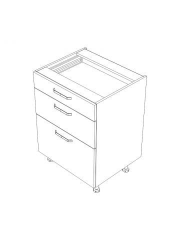 KAMMONO DSS/3 szafka z szufladami bez blatu
