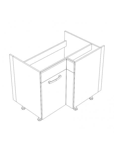 XL DRZ100x70 szafka narożna pod zlew