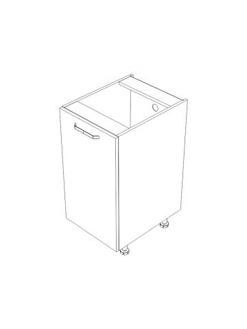 D.1 szafka z drzwiami bez blatu KAMMONO KLASYCZNA