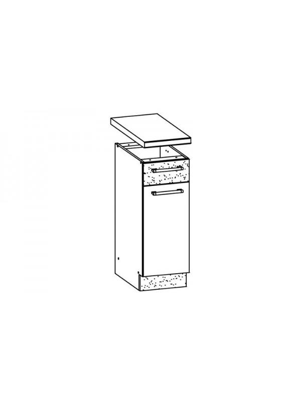 Szafka kuchenna dolna z drzwiami i szufladą MD12 - bordo brokat