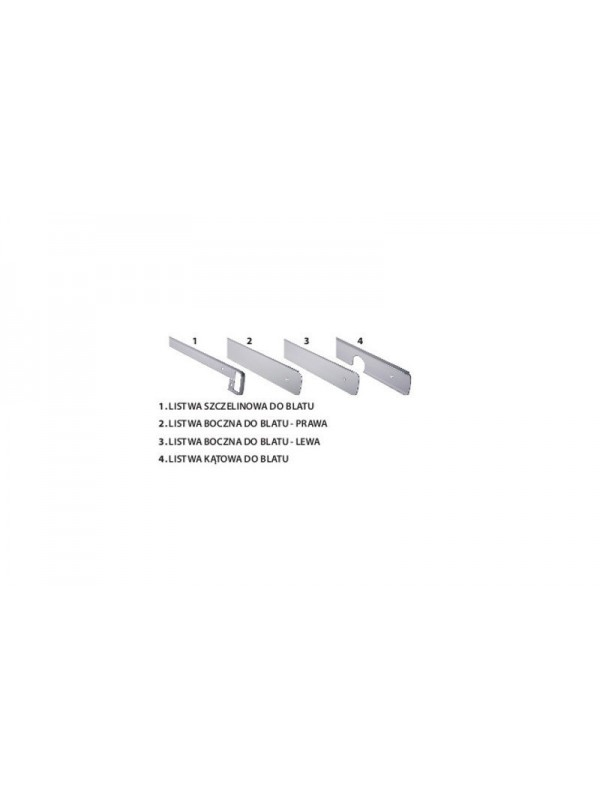 Listwy aluminiowe do blatów MODENA