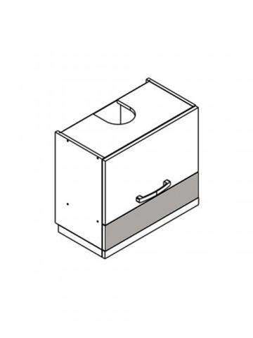 XL WO6/50 szafka górna z drzwiami i okapem