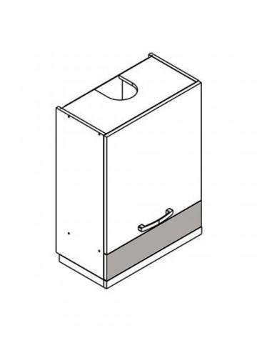 XL W6.1/79 szafka górna z drzwiami i okapem