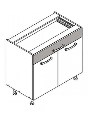 XL DS90/1 szafka dolna z drzwiami i szufladą