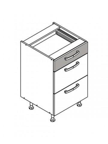 XL DS50/3 szafka dolna z szufladami