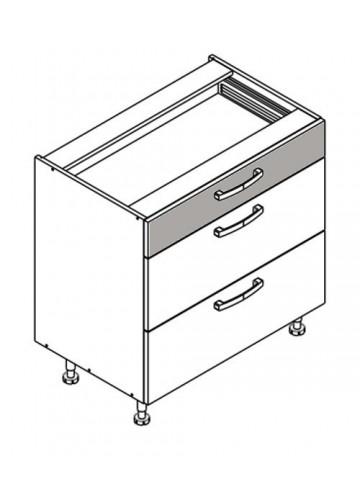 XL DS80/3 szafka dolna z szufladami
