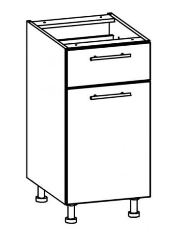 Szafka dolna z drzwiami i szufladą T16/D40S1 L/P TIFFANY