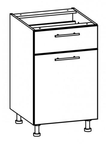 Szafka dolna z drzwiami i szufladą T18/D50S1 L/P TIFFANY