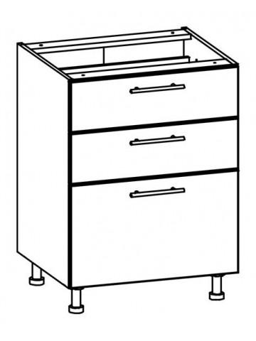 Szafka dolna z szufladami T20/D60S3 TIFFANY