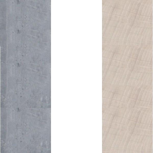 beton/biały lux/dąb