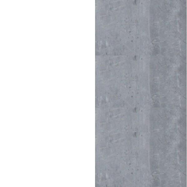 biały lux/beton